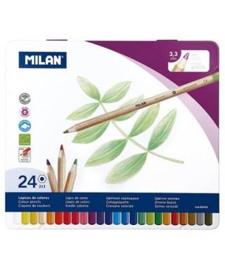 Caja 24 lápices colores con mina grande