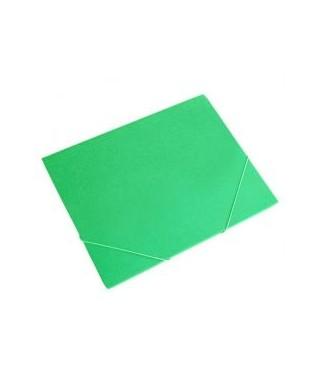 Carpeta plástica con solapa verde translucido
