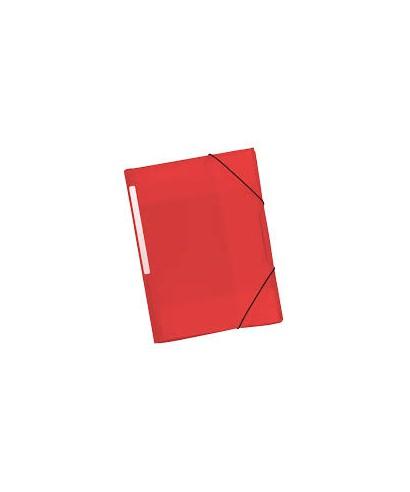 Carpeta plástica con solapa rojo translucido