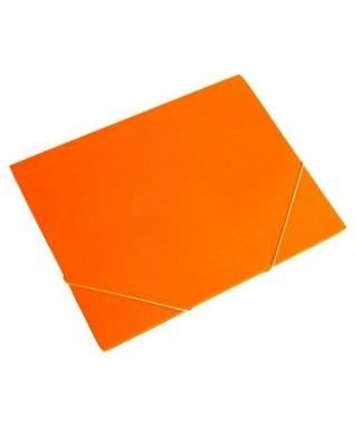 Carpeta plástica con solapa naranja translucido-