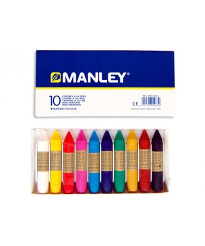 Caja 10 ceras Manley