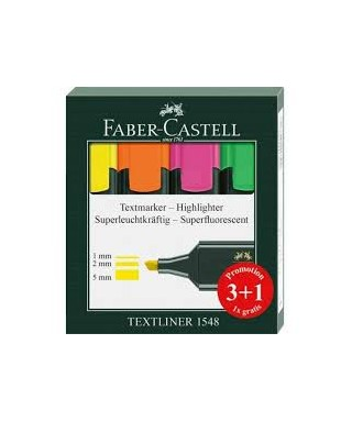Pack 3+1 Fluorescente Faber castell