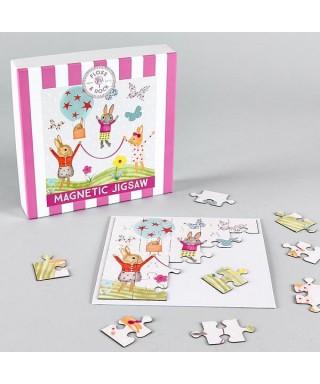 Puzzle magnético Conejo 25 piezas