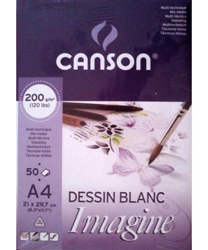 Block de dibujo encolado Canson imagine