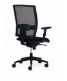 Silla ergonómica Passion negra/negra con brazos 2D y asiento confort.