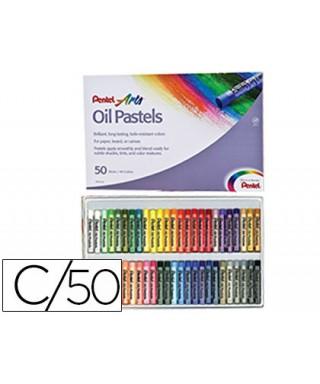 Caja de 50 oil pastel de colores