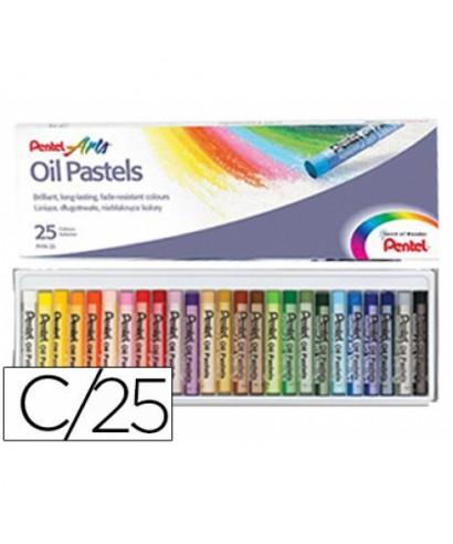 Caja de 25 oil pastel de colores