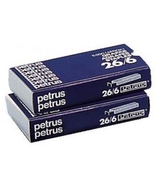Grapas 26/6 cobreadas- PETRUS - 55710
