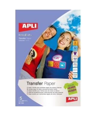 2h papel transfer tejidos oscuros A4