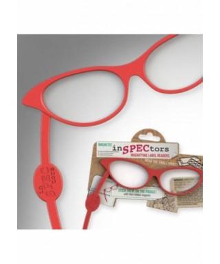 Gafas lupa magnéticas rojo