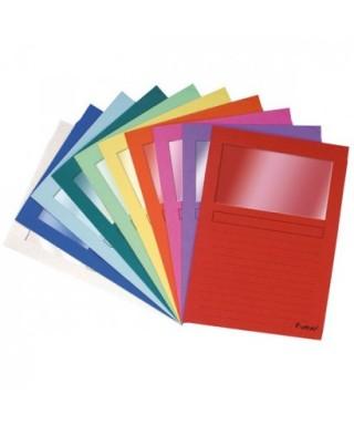 Subcarpetas ventana colores surtidos- EXACLAIR - 50250E