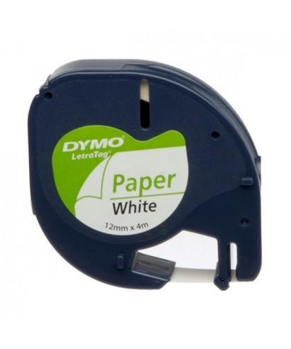 Cinta para máquina Dymo Letratag blanco/negro - SO721510