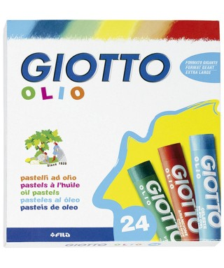 Caja 24 ceras pastel al oleo Giotto