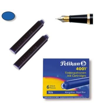 C/6 recambios de pluma Pelikan azul
