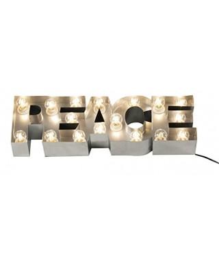 Lámpara letras paz