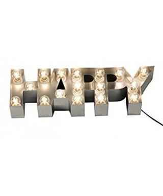 Lámpara simbolo Happy