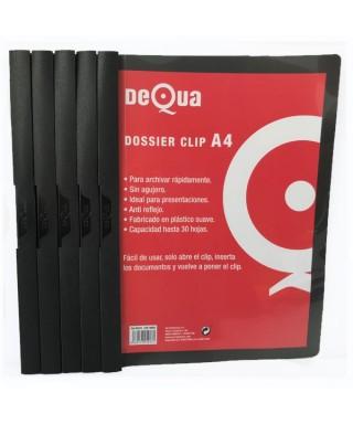 Dossier con clip DeQua negro
