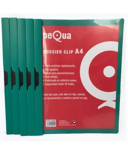 Dossier con clip DeQua verde