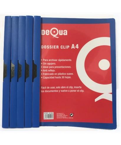 Dossier con clip DeQua azul