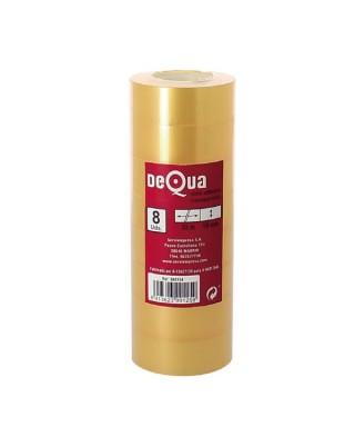 Pack de 8 rollos cinta adhesiva transparente 19mm x33m- DEQUA