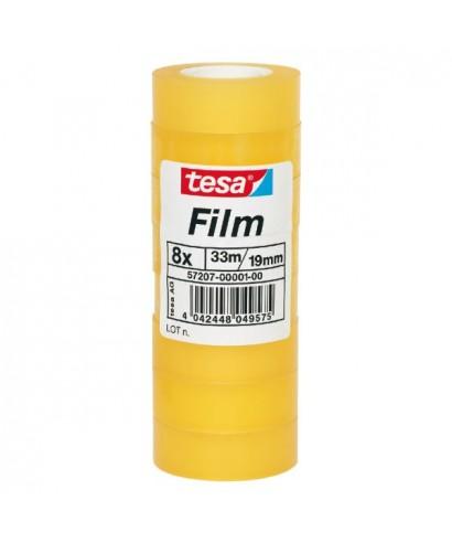 Pack de 8 rollos de cinta adhesiva transparente 19mm x33m- TESA