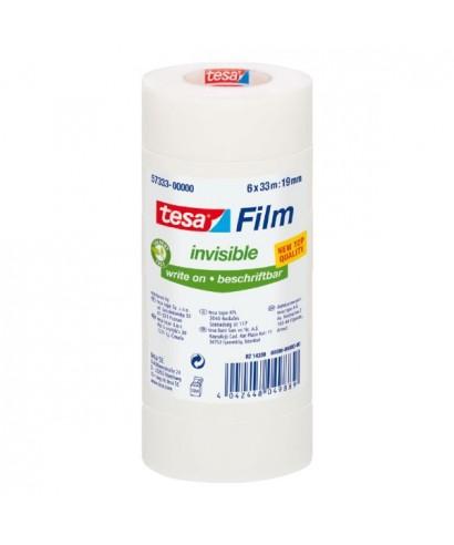 Pack de 6 rollos de cinta adhesiva transparente 19mm x33m- TESA