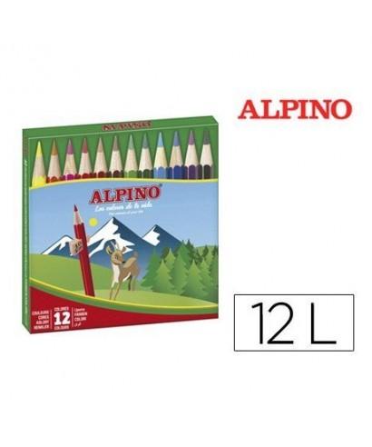 Caja lápices cortos 12 colores. ALPINO