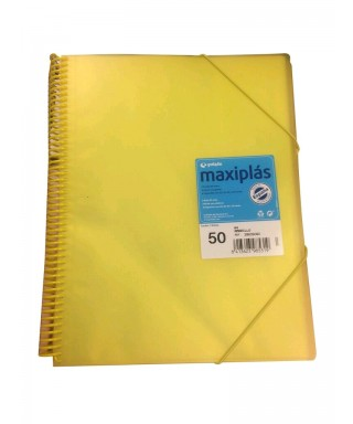 Carpeta maxiplas fundas 50 fundas amarilla