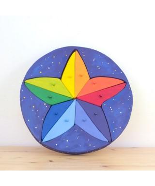 Puzzle Estrella - CERA DE COLORES