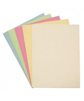 Papel en colores pastel surtidos. A4 - 80gr. Paquete de 100 hojas. Fixo
