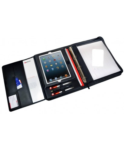 Carpeta conferencia polipiel con corpartimento para tablet