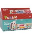 Caja puzzle casita tren APLI - 16485