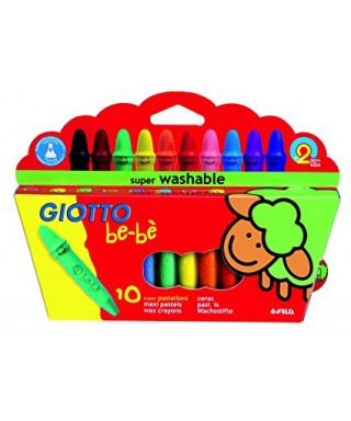 C/10 Super ceras de colores GIOTTO BE-BE