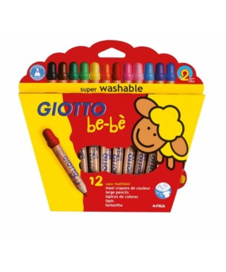 Caja 12 lápices de colores GIOTTO BEBE