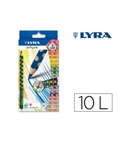 Caja 10 lápices triangularea Lyra Groove