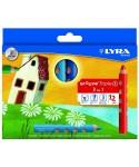 C/12 lápices Lyra roove triple 1
