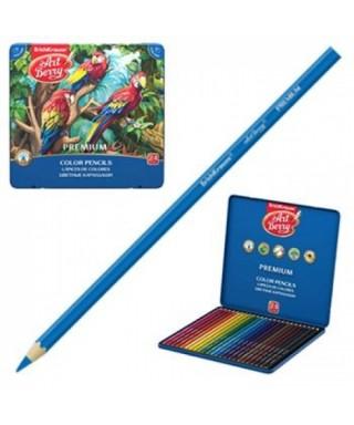 Caja metálica 24 lápices colores surtido