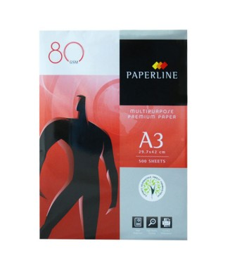 Paquete 500 hojas,A3, 80g PAPERLINE