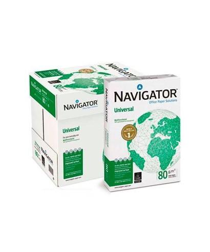 Caja de 5 paquetes de 500 hojas Navigator 80gr