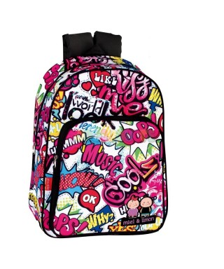 Mochila Jr. A.O. M&L Kiss me MONTIXELVO
