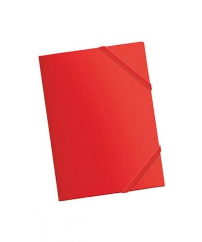 Carpeta pp A4 con gomas y solapas rojo