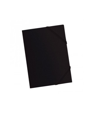 Carpeta pp A4 con gomas y solapas negra