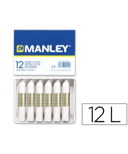C/12 ceras blancas Manley Nº1
