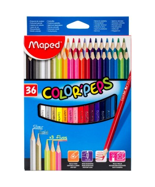 36 Lápices de colores surtidos Maped