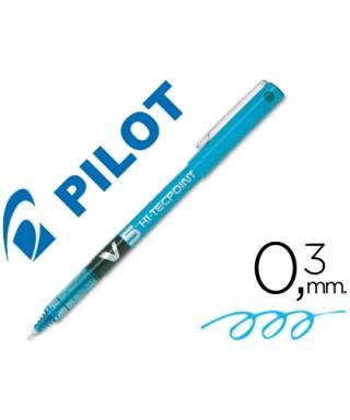 Pilot V-5 Azul claro
