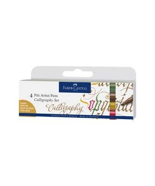 Pack 4 rotuladores Pitt Calligraphy