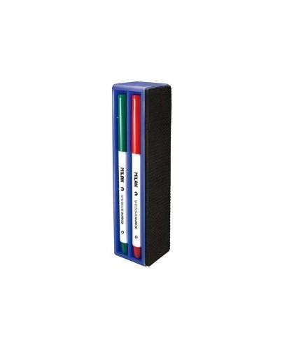 Borrador magnético + 4 rotuladores pizar