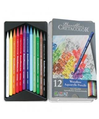 Caja metálica 12 lápices Aqua Monolith C