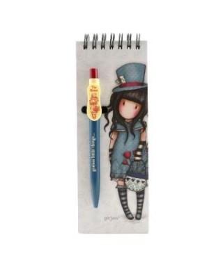 Libreta con bolígrafo The hatter