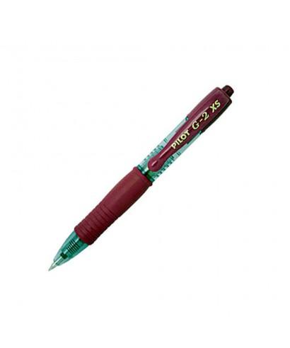 Bolígrafo retráctil G-2- XS PILOT - burdeos